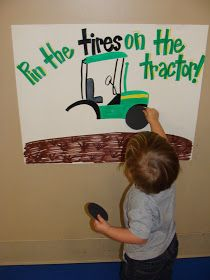 The Carr Family: Pin the TIRES on the Tractor!