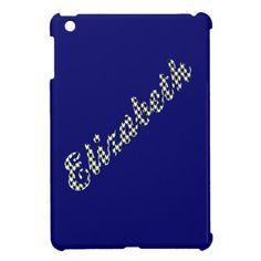 Houndstooth Print Name Elizabeth iPad Mini Cover