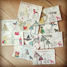 Handmade postcards f
