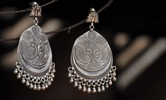 Classic silver earrings and rings for a touch of tradition Online at Jaypore.com