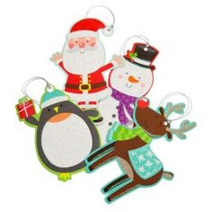 30 set of tags to complete your christmas gifts, fun santa, penguin and snowmen icons!