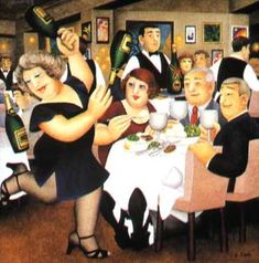 A Beryl of Laughs! A tribute to the life-affirming 'fat ladies' painter Beryl Cook Renoir, Beryl Cook, Plus Size Art, English Artists, Painting Gallery, Ballet, Fat Women, Silk Screen Printing, Poses
