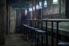 Housed in the refrigeration room of a former Soviet-era bakery, the brick and concrete interiors of Sever Bar in St. Petersburg is harsh, stark and industrial.