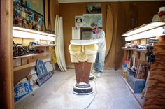 Guy Okazaki shaping room— Liquid Salt | Surf Magazine