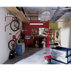 20 garage wall storage ideas space organization with. Black Bedroom Furniture Sets. Home Design Ideas