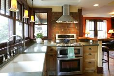 I like the tile behind the stove