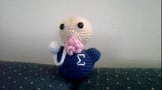 """It's been over a year since I've been on Tumblr! In celebration, I'm reblogging my little Ood Sigma! oodknitter: """" Amigurumi Ood from Doctor Who - crochet your own after the break! Yarn colors: Skin (Vanna's Choice: Beige) Shirt (Any color of your..."""