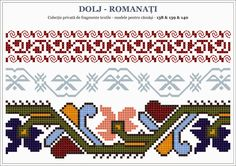 Semne Cusute: traditional Romanian motifs - OLTENIA: Dolj-Romana... Loom Patterns, Beading Patterns, Embroidery Patterns, Knitting Patterns, Creative Embroidery, Cross Stitch Borders, Border Pattern, Pattern Fashion, Cross Stitch Embroidery