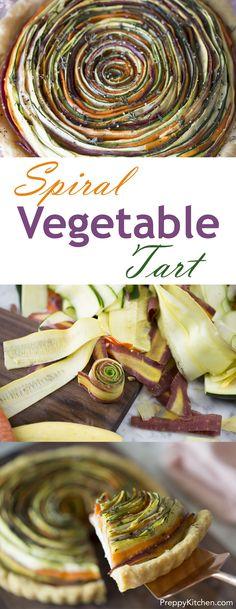 Sweet Eats: Spiral Vegetable Tart