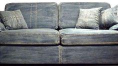 Distressed denim sofa ~ Boys Vintage Bedroom Teen--Slipcover chair?