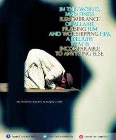 """""""Verily, in the remembrance of Allah do hearts find rest!""""(Qur'an 13:28)"""