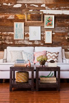 Apt Decor: The Quinn Sofa, white + charcoal