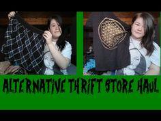 YouTube Alternative thrift store haul goth punk clothing Thrift Store Hauls, Punk Outfits, Thrifting, Alternative, Goth, Band, Videos, Music, Clothing