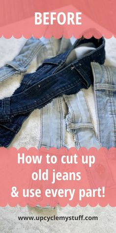 Sewing Jeans, Sewing Clothes, Diy Old Jeans, Old Jeans Recycle, Denim Quilt Patterns, Denim Quilts, Repurposing, Upcycling Projects, Sewing Projects