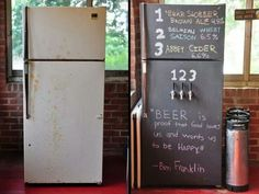 Turn my old fridge into a 3 tap keggerator and paint it with chalkboard paint