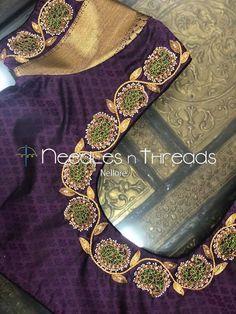 Hand Work Blouse Design, Pattu Saree Blouse Designs, Stylish Blouse Design, Fancy Blouse Designs, Bridal Blouse Designs, Magam Work Designs, Saree Tassels Designs, Embroidery Neck Designs, Blouse Tutorial