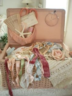 Vintage Sewing Basket = Treasure Chest