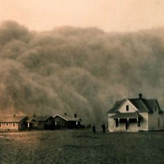 The U.S. is embroiled in the worst drought since the Dust Bowl of the 1930s. Pictured: A dust storm approaches Stratford, Texas in 1935.