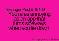 So annoying