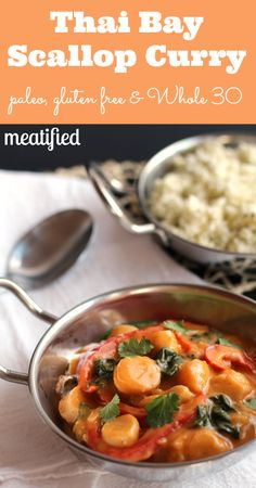 Thai Bay Scallop Curry from http://meatified.com #paleo #glutenfree #whole30