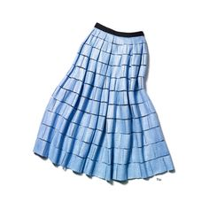 THE BEAUTY TIP pearls of wisdom THE INSTANT UPDATE A circular midi... ❤ liked on Polyvore featuring skirts, pastel blue skirt, midi skirt, blue midi skirts, pastel midi skirt and blue circle skirt