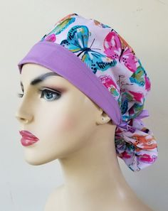 Your place to buy and sell all things handmade Scrub Caps, New Print, Hat Making, Hats For Women, Ponytail, Scrubs, Butterfly, Sewing, Awesome