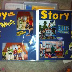 Disney scrapbook page