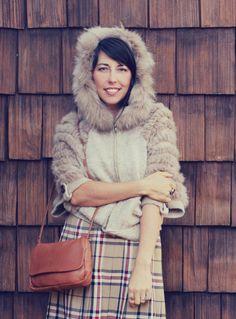 Fur Hooded Sweater / Tan Batwing Half Sleeve Fuzzy Cardigan Spring Coat #Unbranded #Cardigan