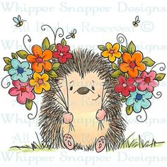 Whipper Snapper Designs is an expansive online store selling a large variety of unique rubber stamp designs. Hedgehog Art, Penny Black, Digi Stamps, Watercolor Cards, Whimsical Art, Rock Art, Cute Drawings, Cute Art, Painted Rocks