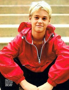 Red Leather, Leather Jacket, Blonde Moments, Aaron Carter, Memories, Hair, Jackets, Life, Fashion