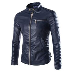 Hit the open road with this stylish men's leather road jacket. Available in your choice of three colors, you will love how this jacket feels on. It has a polyester linng, leather outer and zipper fron