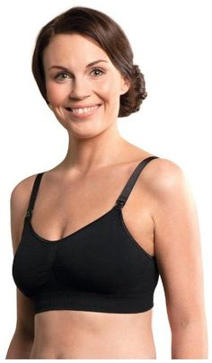 a9eaec7347 Carriwell Seamless Padded Nursing Bra BlackMedium    See this great  product. Maternity Fashion Wear
