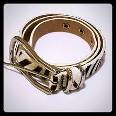 ❗SALE❗Express Leather Zebra Hair Belt Express Genuine Leather Zebra Hair Belt in Great Condition.   Size Small Express Accessories Belts
