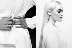 Stilwithyou Post by Ollie Sebs Haus Sleek Hairstyles, Cheap Jewelry, Stacking Rings, Jewlery, Style Inspiration, Black And White, Wedding, Fashion, Haus