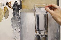 ¿Cómo pintar el vidrio y reflexiones con acrílicos Parte 3 de 3
