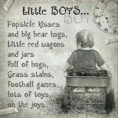 My boys aren't so little anymore but the memories make me smile. I love my sons Tommy and Mikey. Just In Case, Just For You, Life Quotes Love, Quotes Quotes, Family Quotes, Qoutes, Mommy Quotes, Baby Sayings, Funny Quotes