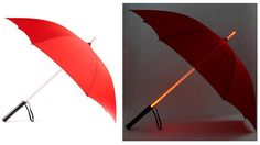 Not much of a Star Wars fan and don't own one but I like the idea of a lit umbrella. It would be useful on a dark rainy day. :)