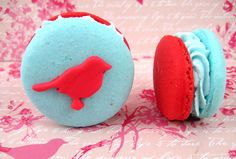 vintagelove birds ...read this article! Craziness with the macaroons! great idea to include for the wedding!     curtesy of: bellthemagazine.com/2012/04