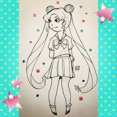 Usagi/Serena  INKTOBER! ((#ztdraws #inktober2015 #inktober2015day12 #traditionalart #sailormoon #cute #magicalgirl #sailorscouts #chibi #bishoujosenshisailormoon #fanart #manga #ink #art #sailorsenshi #instadraw #instartist #instaart #instadrawing #instadaily #artstagram #patreonartist #patreoncreator ))