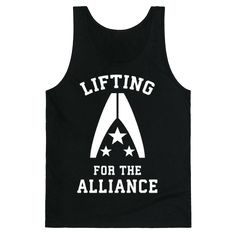 Looking to take out some reapers and defeat Harbinger? Well do it in the name of the Alliance of the Mass Effect universe! The perfect Mass Effect shirt for gamers at the gym who are looking to sport a body like Shepard.