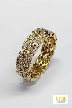 Diamond Wedding Bands, Wedding Rings, Bespoke Jewellery, Filigree Ring, Autumn Wedding, Gold Rings, Fine Jewelry, Jewelry Design, Metallic