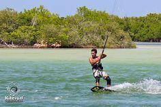 Kiteboarding Trips to Yucatan Mexico. San Felipe and Rio Lagartos kite spots http://kitesurfvacation.com/?lang=en
