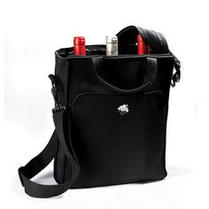 Click to see how this item is nearly weightless, the neoprene 3 bottle wine tote uses the same material for wet suits to insulate your wine bottles at cellar or fridge temperatures without clinking or shattering. Large exterior pocket allows you to hold a wine journal or wine passport. Features adjustable and detachable shoulder strap, padded carrying handles and 2 gel packs. http://www.goodwinecoolers.com/products/neoprene-3-bottle-wine-tote-bag