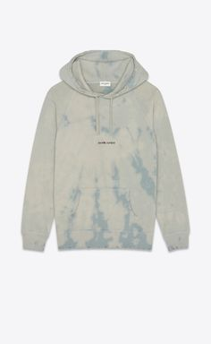"""Saint Laurent Rive Gauche"" tie & dye T-shirt Saint Laurent Shirt, Tie Dye Hoodie, Tie Dye T Shirts, Ysl, Batik Mode, Tie Dye Fashion, Colorful Hoodies, Hoodie Outfit, Boyfriend T Shirt"