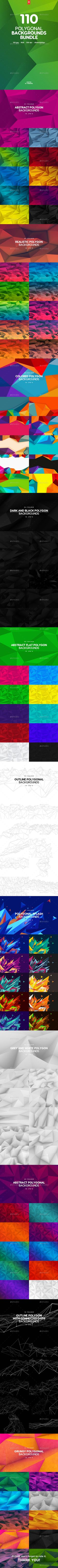 110 Abstract Different Polygonal Backgrounds Bundle by themefire This pack contains 110 jpg abstract different polygonal backgrounds for your projects. You can use these backgrounds in the differ