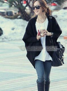 New Arrival Temperament Loose Asymmetrical Hot Selling Cardigan Outwear : Tidebuy.com