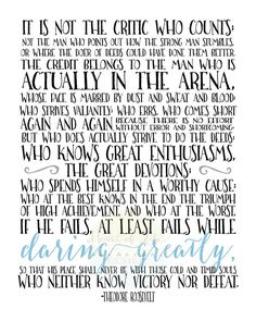 photo relating to Man in the Arena Free Printable identified as 14 Great Guy within the arena pictures within just 2017 Theodore roosevelt