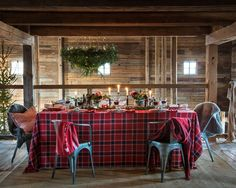 Checked Tablecloth, Red Multi