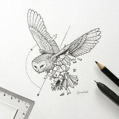 O ilustrador Filipino Kerby Rosanes ficou famoso pelos seus doodles. Ele também é o artista responsável pelo livro de colorir Animorphia, que já faz sucesso no mundo todo. #geometric #beasts