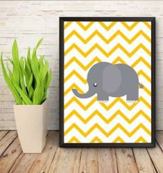 poster elefante geometrico - 30x40cm